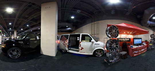 Final Impact shows off their minivan full of glass breaking speakers.