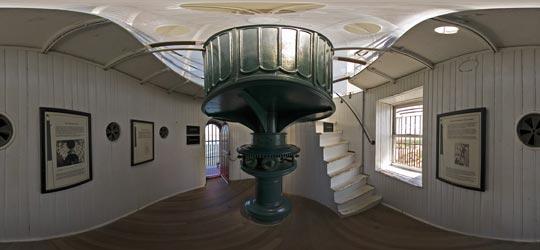 Image Inside The Light Tower In Barnegat Lighthouse