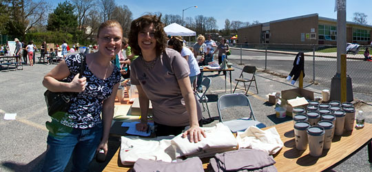 Lori and Carole at the 1st Annual Earth Day Festival