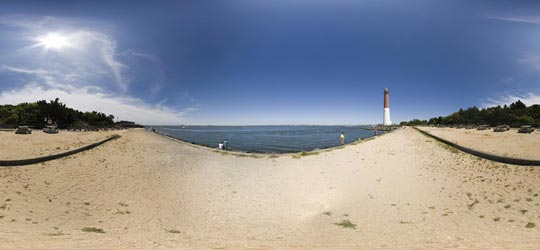 Image of the view on the Inlet by Barnegat Light