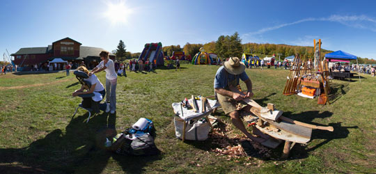 Caleb Carving at the Gore Mountain Harvest Fest