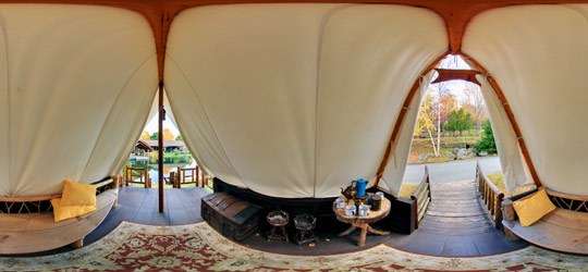 Fishing Tent at the Adirondack Museum & Platform Fishing Tent at Adirondack Museum | Samurai Virtual Tours ...